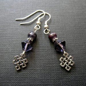 Celtic Endless knot Dangle Earrings